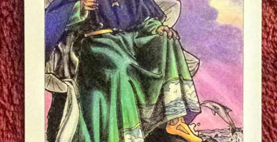photo of the King of Cups from Robin Wood's tarot